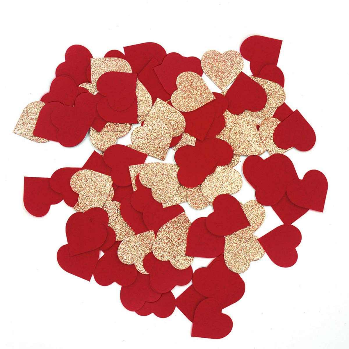 4159559af27fe NICROLANDEE Wedding Confetti Rose Gold Glitter Party Confetti Red Suede  Heart Shaped Table Confetti for Bridal Shower Valentine's Day Hen Night  Party1 ...