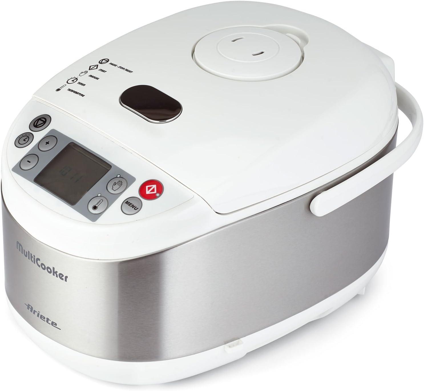 Ariete Multicooker - Olla eléctrica programable, color blanco y plateado (versión italiana): Amazon.es: Hogar