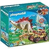 PLAYMOBIL Explorer Vehicle with Stegosaurus...