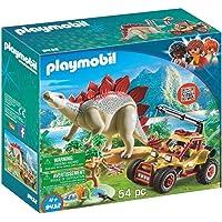 PLAYMOBIL Dinos Vehículo Explorador con Estegosaurio y Cabrestante