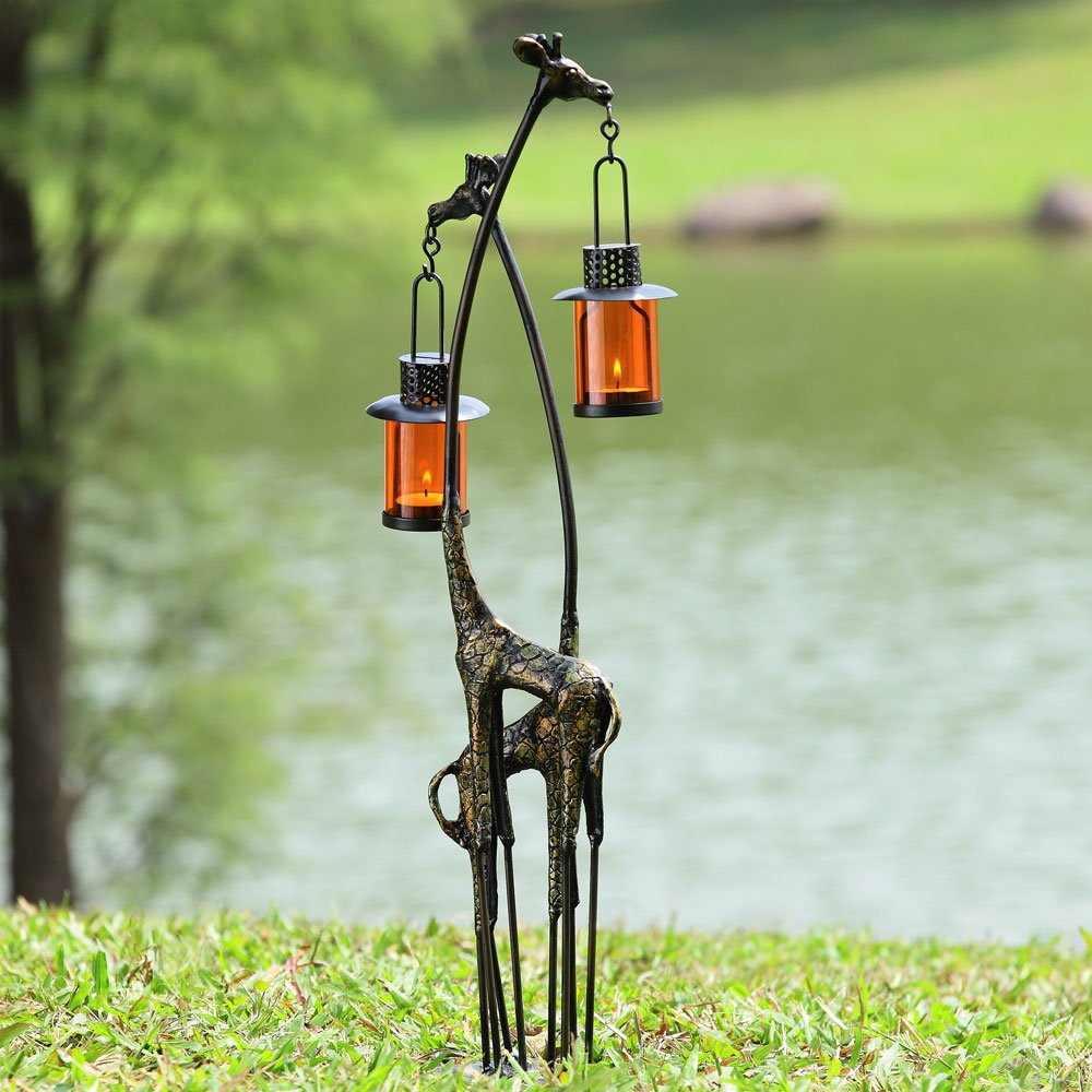 Giraffe Pair Lantern by SPI Home