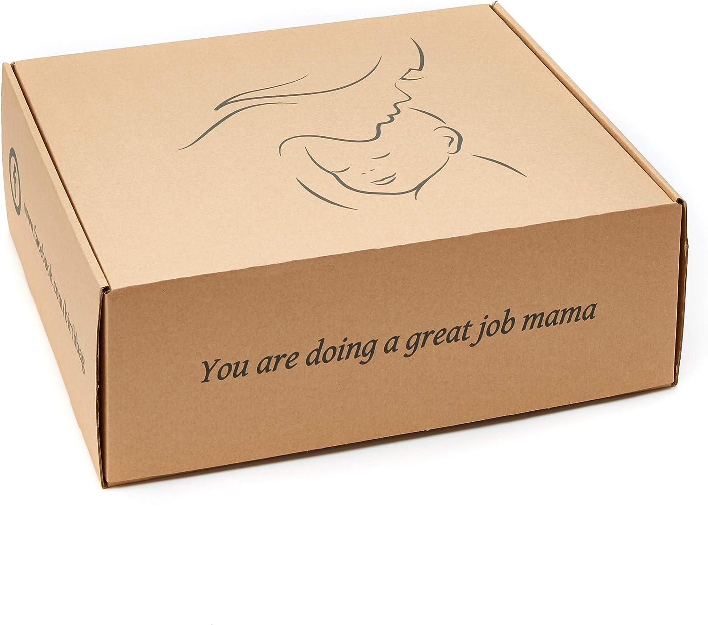 blanco y negro bolsa cambiadora esencial para mam/á y beb/é Bolsa de maternidad pre embalada Bolsa de nacimiento