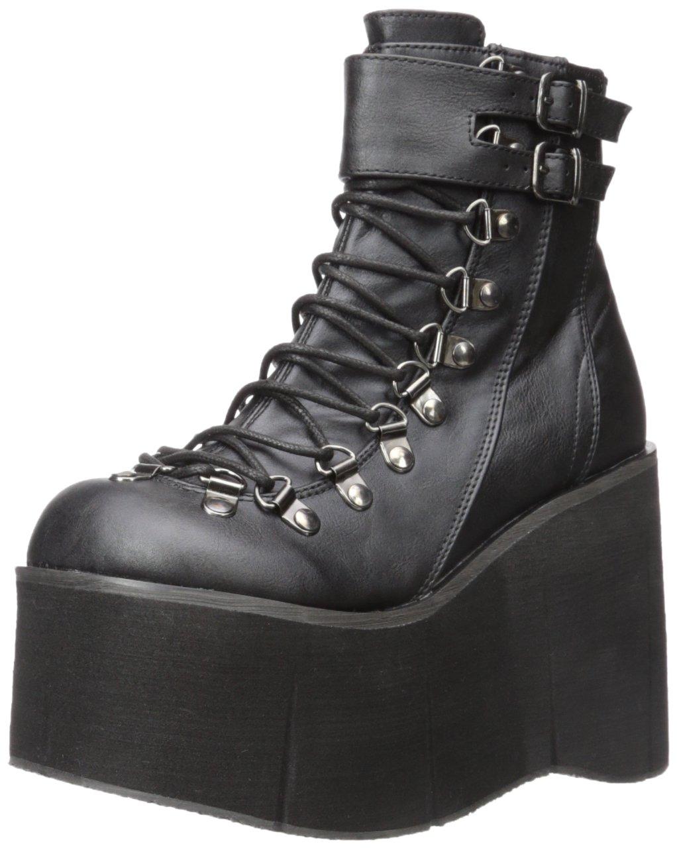 Demonia Women's Kera-21 Ankle Boot B01MXJH1UM 9 B(M) US|Black Vegan Leather