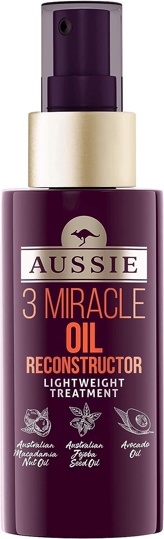 Aussie 3 Miracle, Aceite Reconstructor para cabello dañado, 100 ml