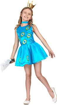 Vegaoo - Disfraz Pavo Real niña - S 4-6 años (110-120 cm ...