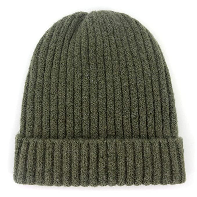 a67a86478dd18 Image Unavailable. Image not available for. Color: MingDe Sports Unisex  Wool Blend Striped Knit Beanie Hats for Men Winter Warm Ski Cap