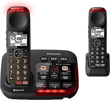 Panasonic kx-tgm430b Bluetooth Amplificador Teléfono inalámbrico (2 terminales): Amazon.es: Electrónica