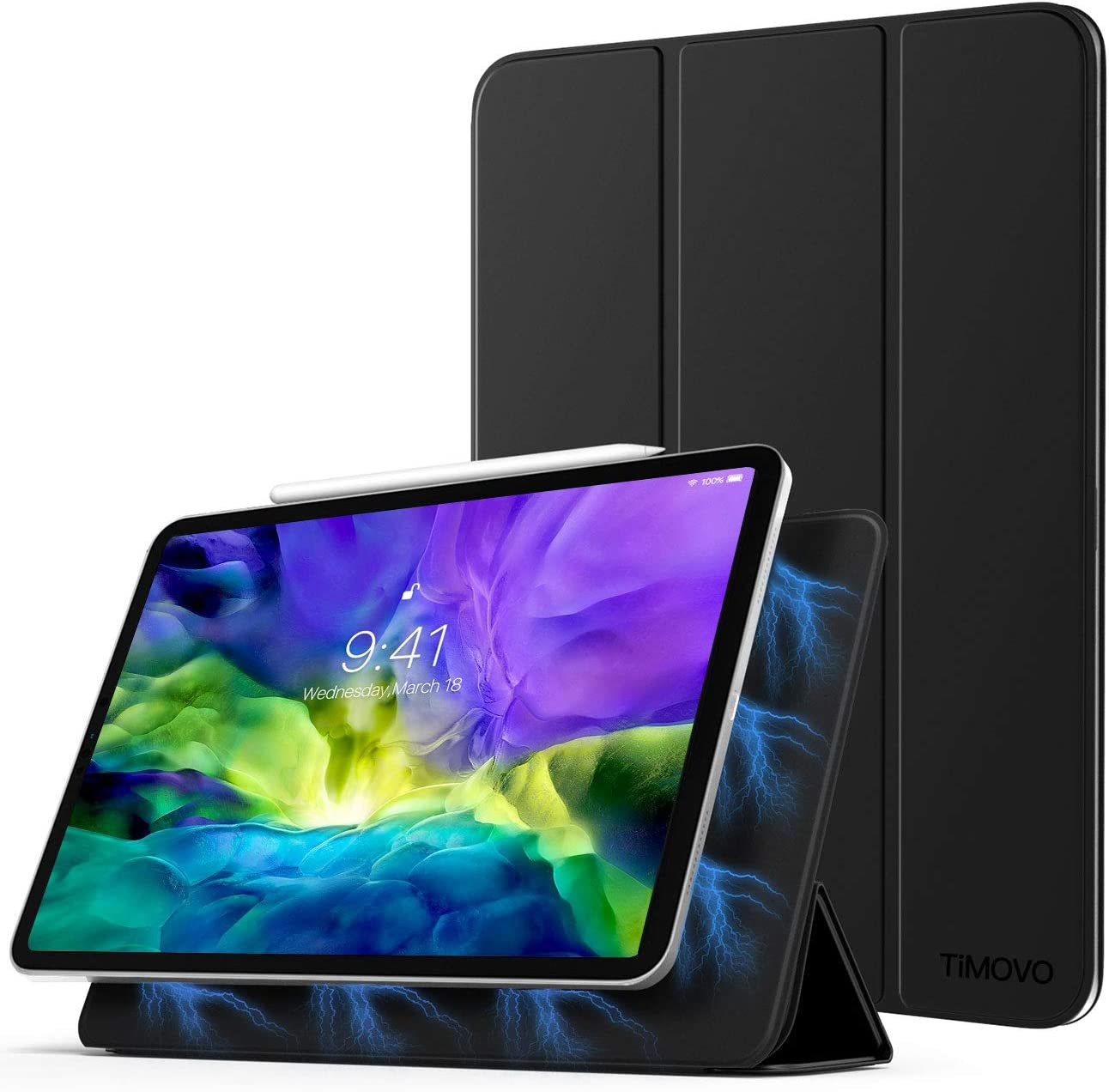 TiMOVO Case for New iPad Pro 11 Inch 2020 (2nd Generation), Strong Magnetic Trifold Stand Case Cover with Auto Sleep/Wake Fit iPad Pro 11