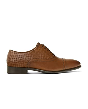Men Smart brown leather shoes 2402/302