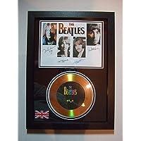 Los Beatles Firmado Oro disco