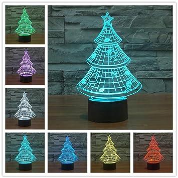 Gaststätte Tannenbaum.Tannenbaum 3d Lampe Optische Led Täuschung Nachtlicht Haiyu 7