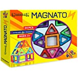 MAGNATON Magnetic Building Blocks Magnet Tiles Set Kids Toys For Girls And Boys Educational And Creativity Holidays Gift Bonus Included