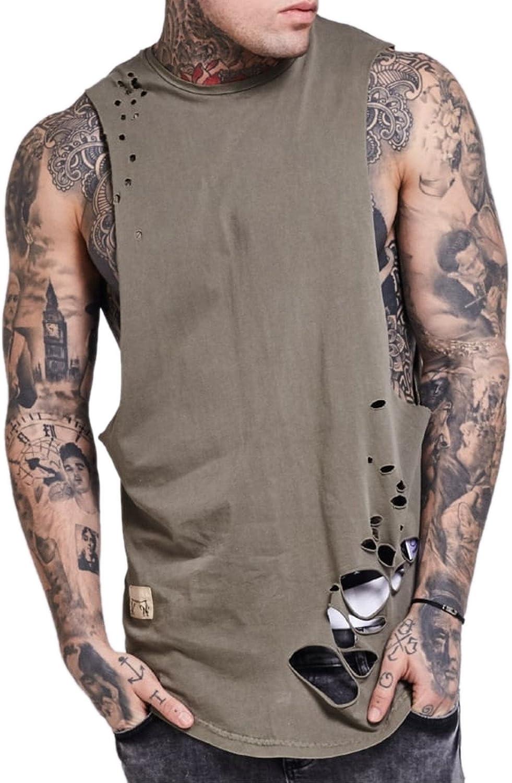 Camiseta Tirantes (Tank Top) Siksilk – Distressed Vest caqui ...