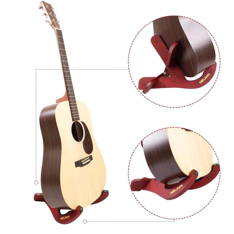NEUMA Soporte de guitarra de madera Soporte de instrumentos musicales Soporte portátil para guitarras acústicas clásicas Bass Banjo Ukelele: Amazon.es: ...