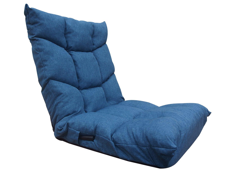 ネクスト(Next) 座椅子 ブラン 低反発ウレタン レバー式 14段階 リクライニング ネイビー B06XYLDX4M ネイビー ネイビー
