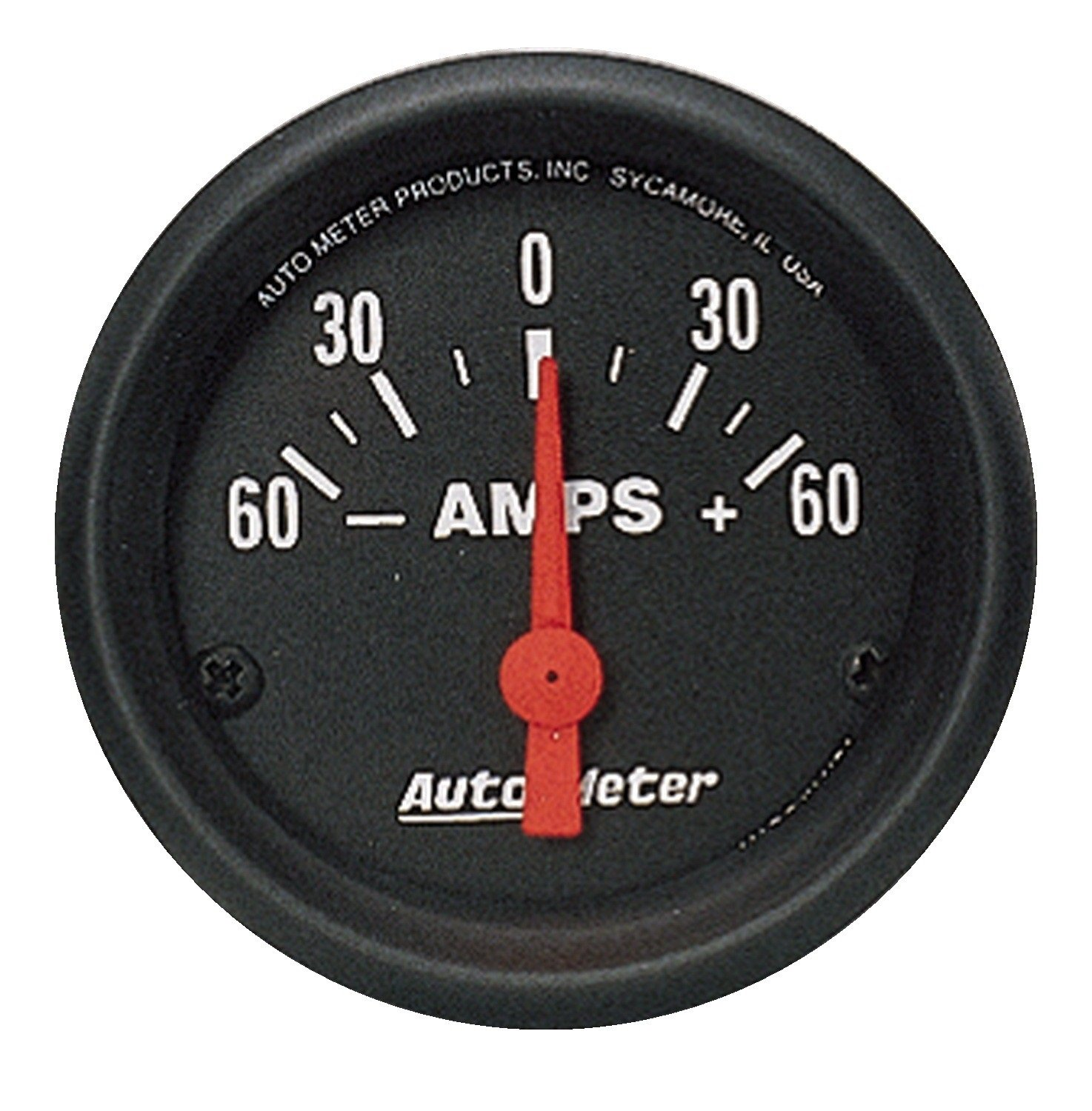 Auto Meter 2644 Z-Series 2-1/16' 60-0-60 amps Short Sweep Electric Ammeter Gauge