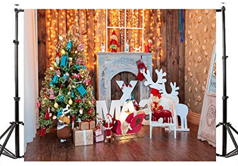 Studio C Christmas.Dlergt 7x5ft Christmas Tree Fireplace Gift Interior Scenic Photography Backdrop Customized Photo Background For Photo Studio 2 213