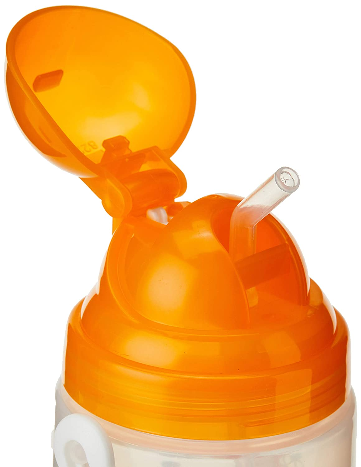 BPA Free Orange 22oz Baby Training Sippy Cup Pop Up Lid Auto Straw For Toddler