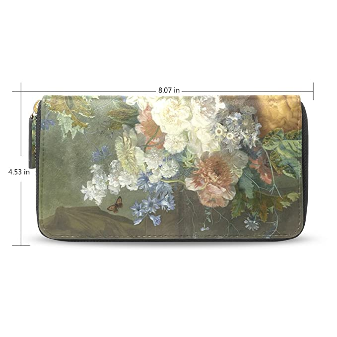 yochoice Mujer Cartera, Vintage pintura al óleo floral ...