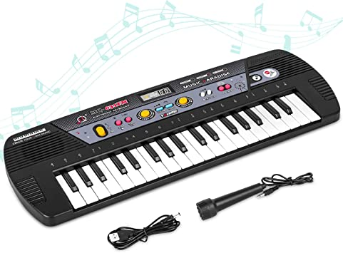 Shayson Piano para Niños 37 Teclas multifunción Teclado Electrónico Piano Organo de Piano con Pantalla LCD Juguete Educativo para Pequeños Niños Niños ...