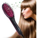 マイナスイオン ヘアブラシ ヘアケア ストレート 静電気除去 電動頭皮ブラシ マッサージ 電池式 疲れ解除 安全 健康な髪 電動櫛