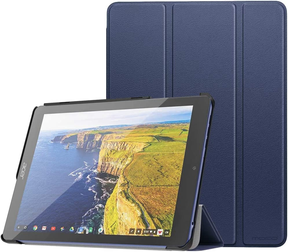 MoKo ACER Chromebook Tab 10 Case - Ultra Slim Lightweight Smart-Shell Stand Cover Case with Pencil Holder for ACER Chromebook Tab 10 Tablet, Indigo