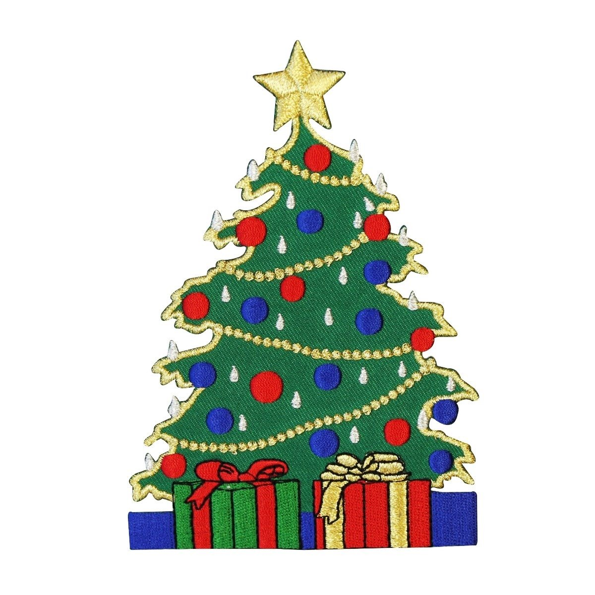 Amazon Com Id 8050 Christmas Tree With Presents Patch Holiday