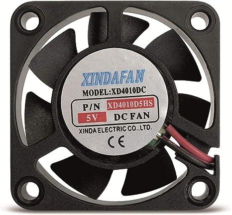 Ventilador pequeño, 40 x 40 x 10 mm, 5 V/DC: Amazon.es: Informática