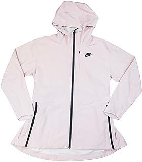 Nike Women s Sportswear Shield Woven Tech Jacket Particle Rose Black XL 7acfffa50