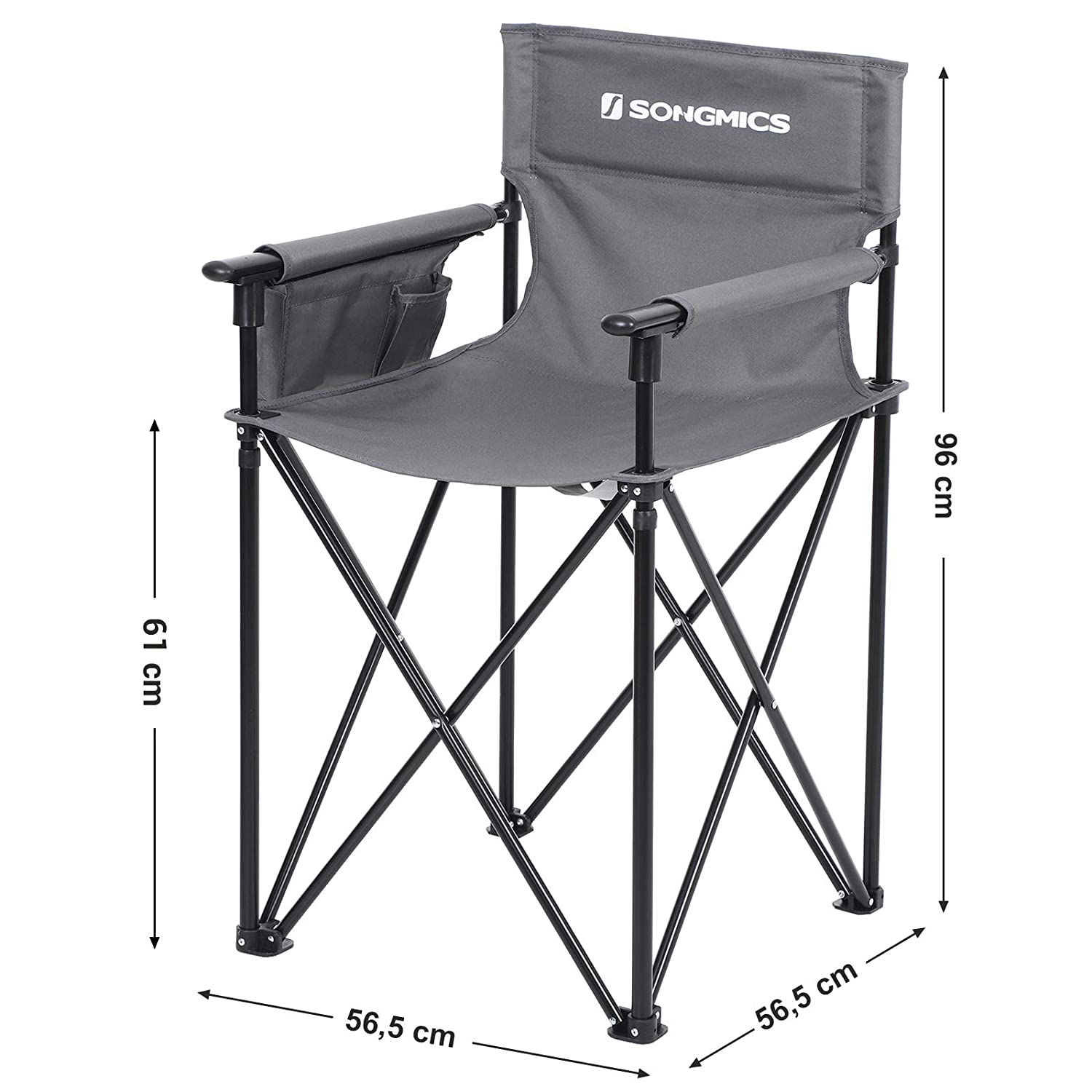 SONGMICS Silla de Camping, Silla de Director Plegable