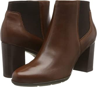 Geox D New ANNYA B, Botines para Mujer, Marrón (Brown C0013