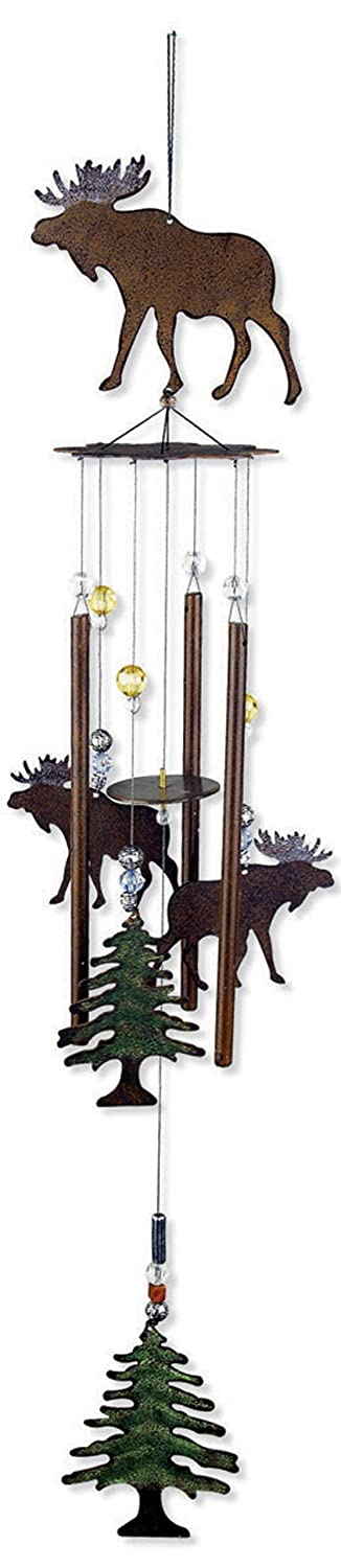 Sunset Vista Designs Wilderness Wonders Moose Wind Chime, 28-Inch Long 80314