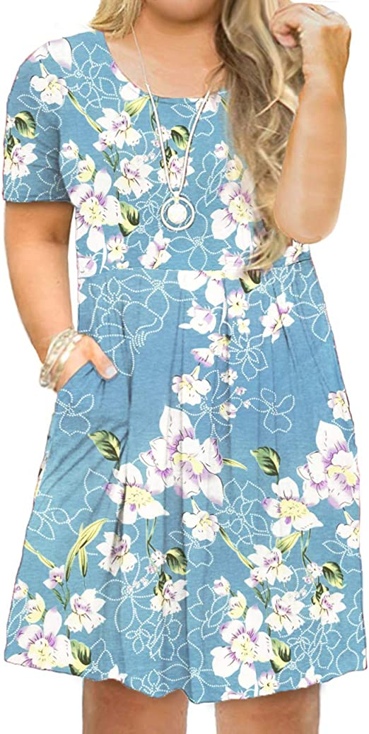 Women's Plus Size Short Sleeve Casual Dress