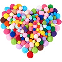 BENECREAT 1 Box(400pcs) Pompones de Colores Variados