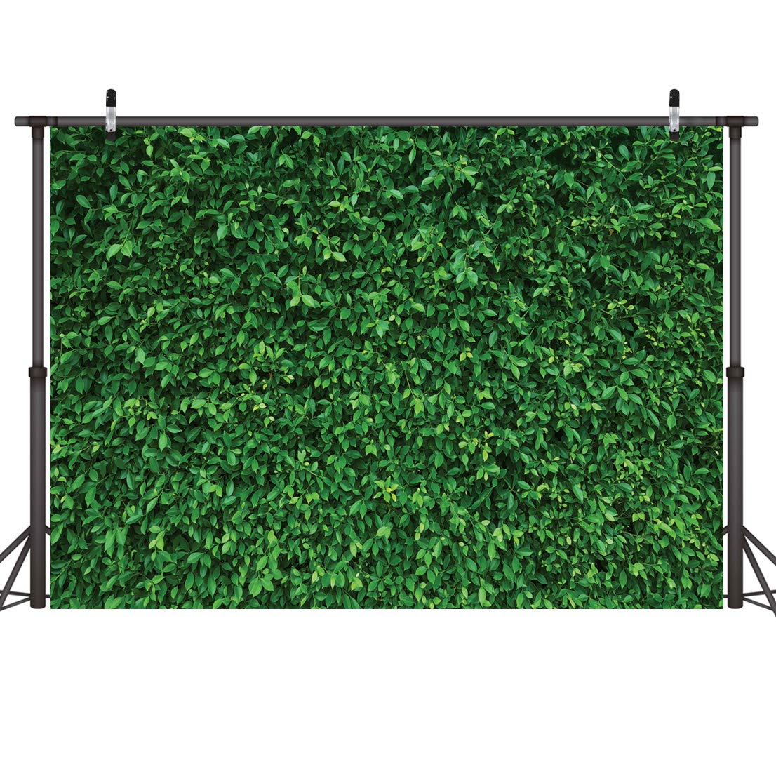 LYWYGG 7x5FT Green Leaves Photography Backdrops Mmicrofiber Nature Backdrop Birthday Background for Birthday Party Seamless Photo Booth Prop Backdrop CP-87