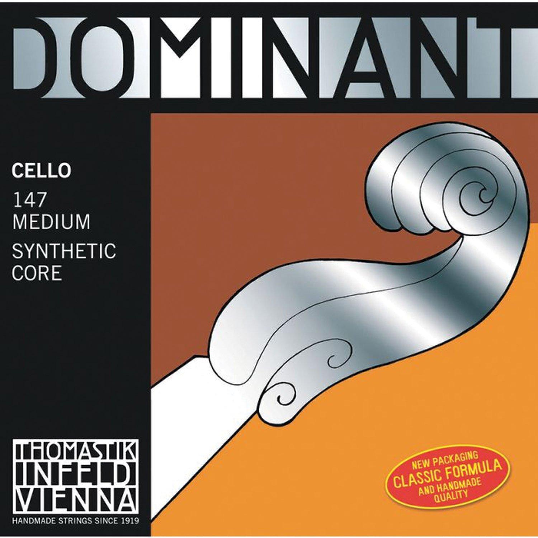 Dr Thomastik-Infeld147 Dominant Cello Strings, Complete Set, Medium Tension, 4/4 Size