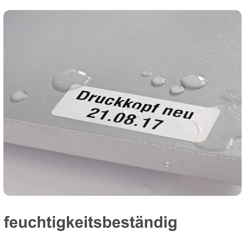 675 Typenschild-Etiketten weiß matt DIN A4 Bogen 64 x 30 mm PET-Folie