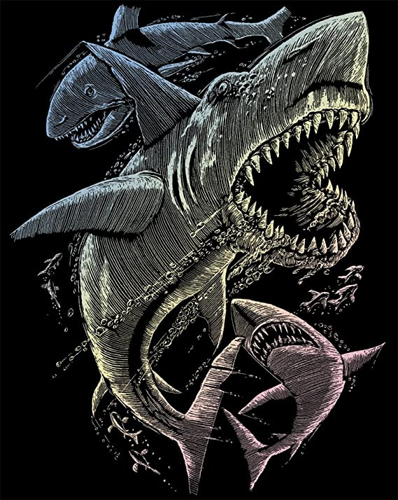 Royal /& Langnickel Glow In The Dark Engraving Art A4 Size Tyrannosaurs Rex Designed Painting Set