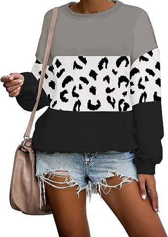luvamia Women Casual Tie Dye Sweatshirts Long Sleeve Loose Pullover Shirts Tops