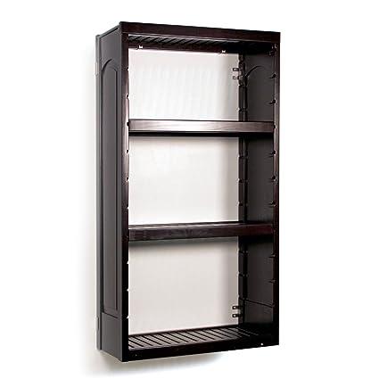 48u0026quot; Woodcrest Stand Alone Closet Organizer Tower Kit In Espresso