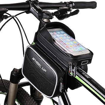 Bolsa de Manillar para Bicicleta de Gran Capacidad Verde ...