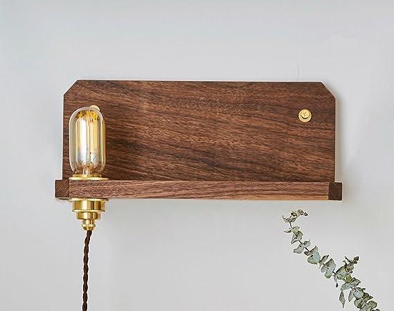 Camera Da Letto Stile Orientale : Lampada da parete vintage lampada da parete con mensola in legno