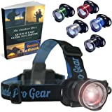 Lighthouse Beacon 1000 SUPER BRIGHT LED Headlamp - The best and brightest spotlight headlight - zoomable water resistant - rugged shock proof flashlight - hiking hunting camping headlamp (BLACK)