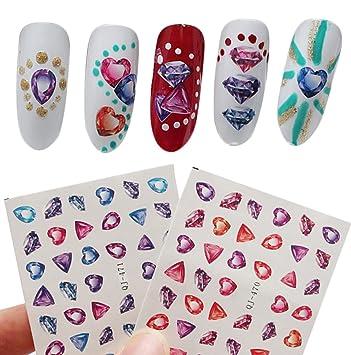 wa 10 bltter jawel muster nagel vinyls nagel schablone aufkleber bltter set fr nail - Muster Fur Nagel