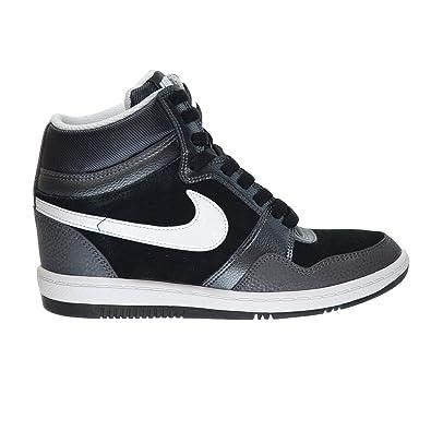 Nike Force Sky High Women Shoes BlackWhite Metallic