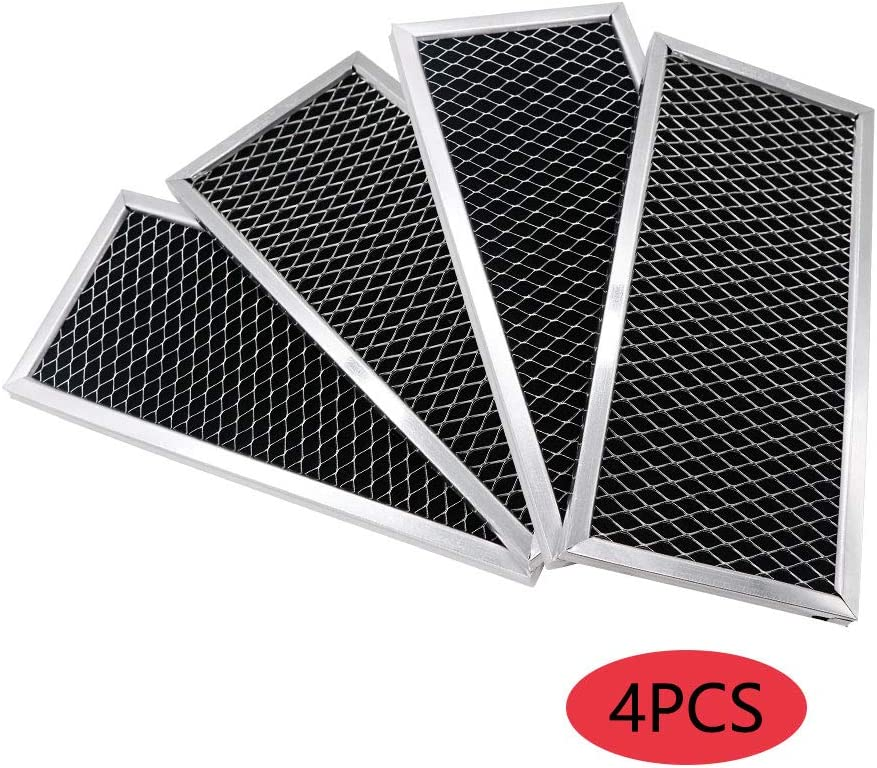 AMI PARTS Microwave Charcoal Filter 4Pcs Replacement for GE WB02X10956