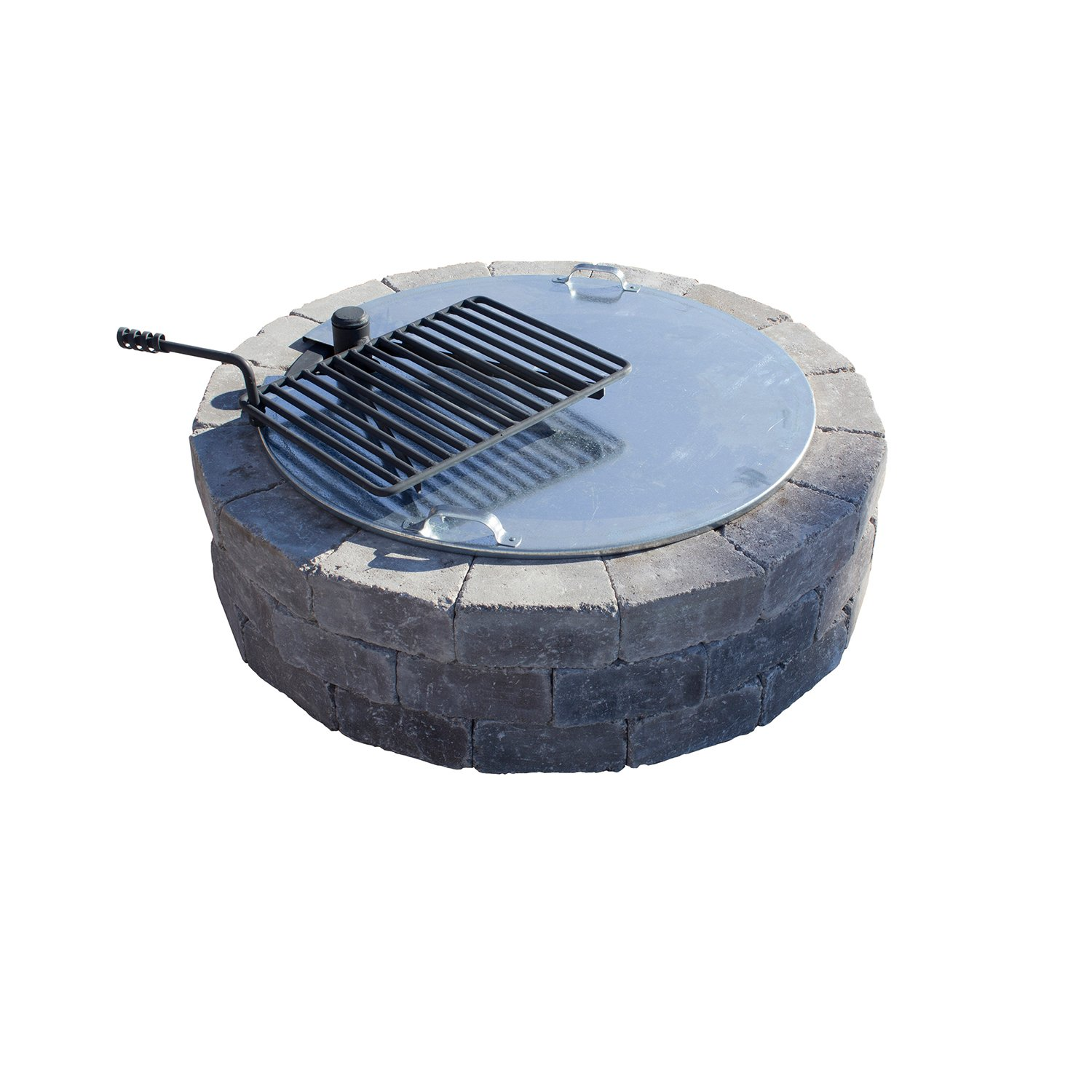 Necessories Fire Pit Cover with Slot