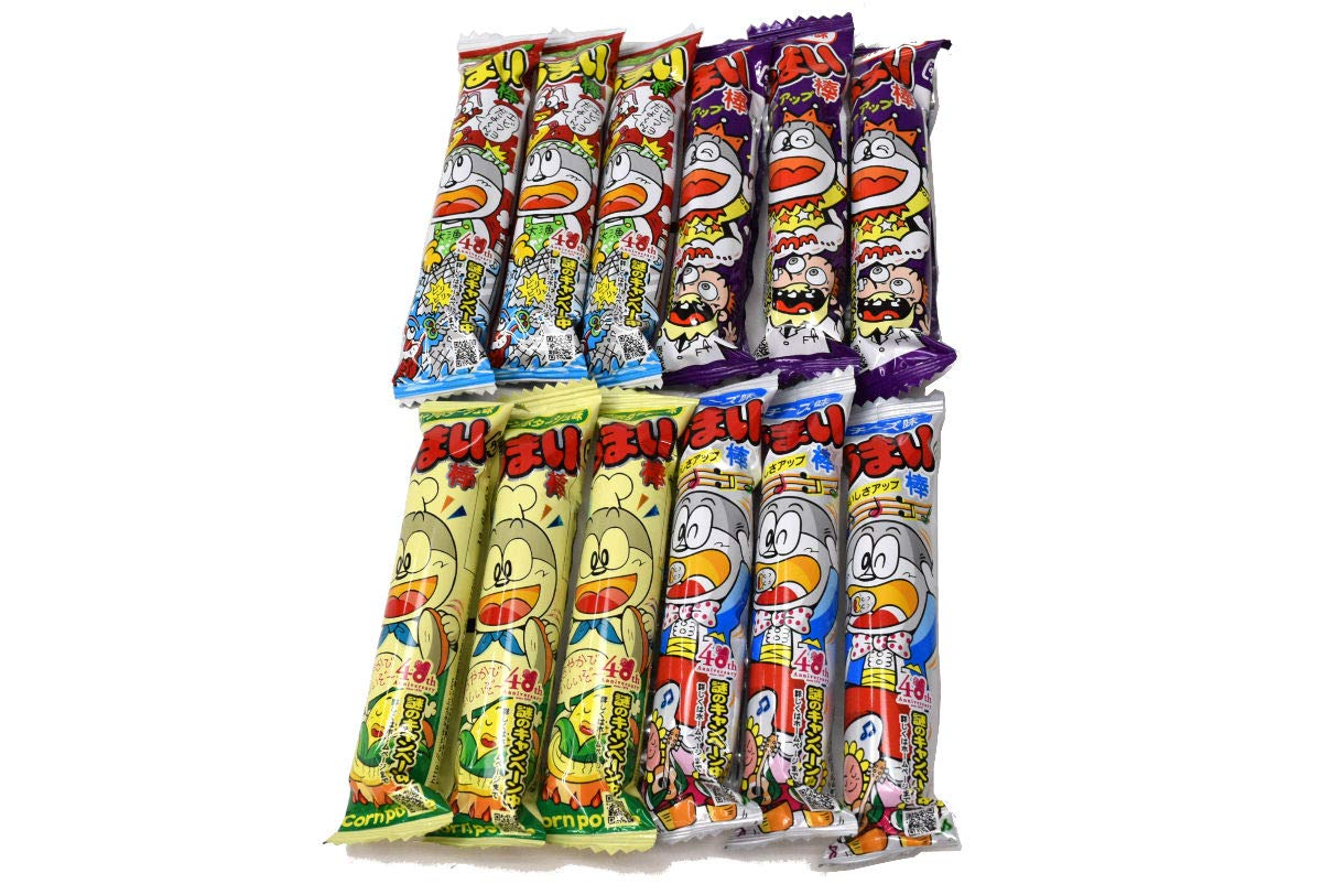 Umaibo, Japanese popular snack food, 12 packs(4 taste×3 packs) No.a333