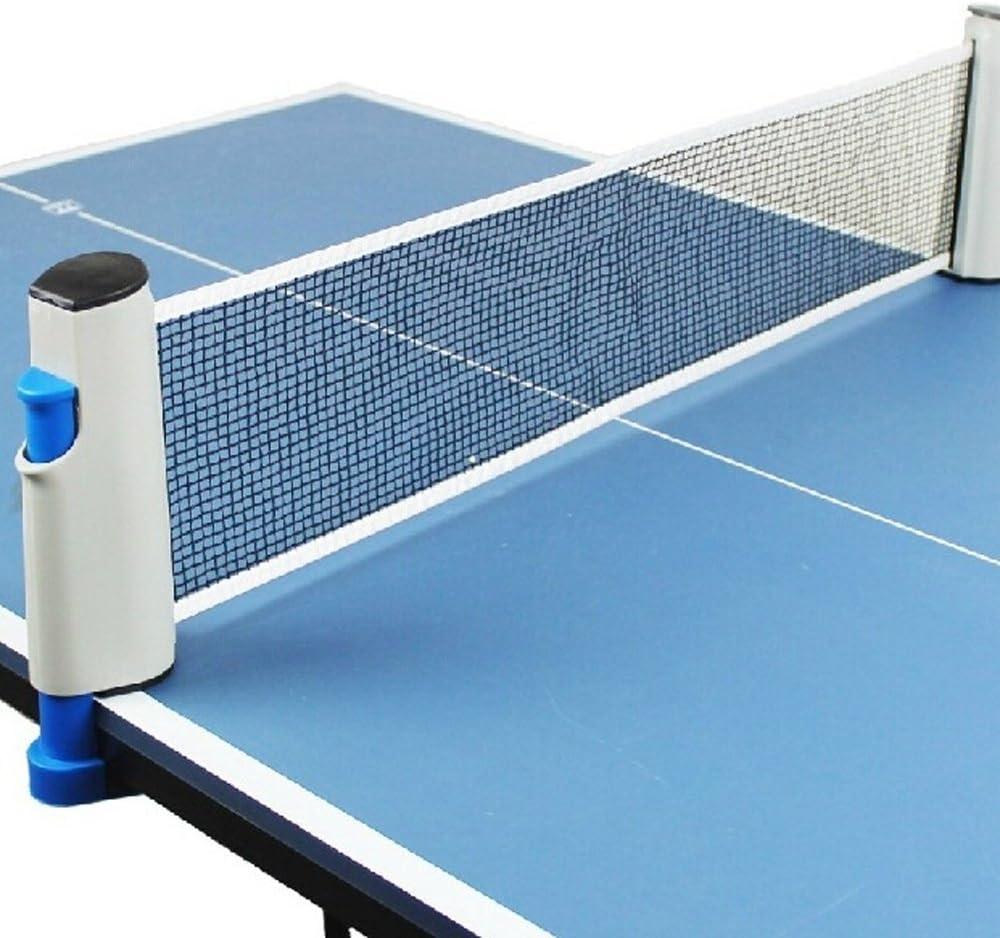 kloud Ciudad® Portable Retractable Red de tenis de mesa ping pong–Accesorio de repuesto de rack/