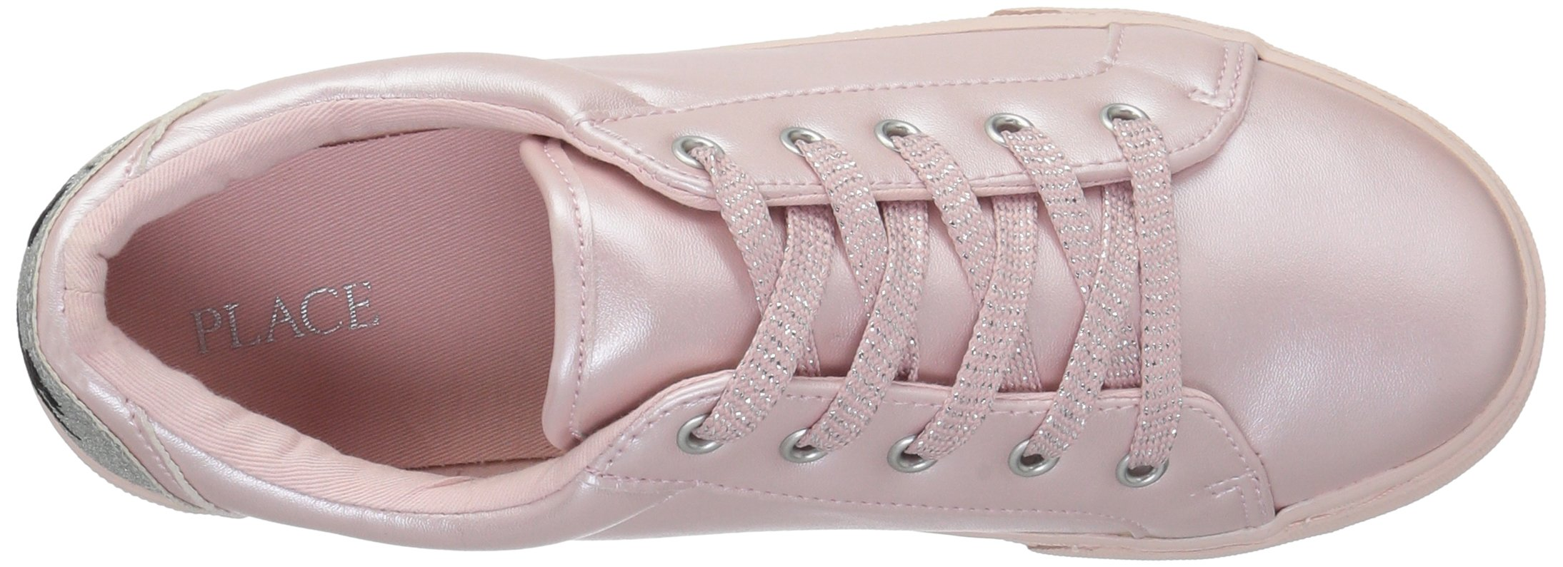 The Children's Place Girls' BG Emoji Sneaker, Pink, Youth 4 Medium US Big Kid by The Children's Place (Image #8)